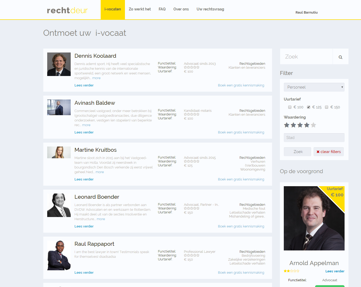 A Site for Searching for Lawyers